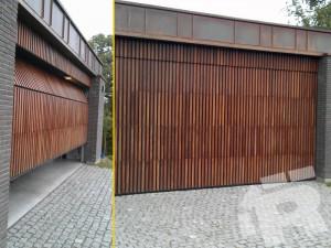 Ryterna Deckensektional Tor mit Holzauflage